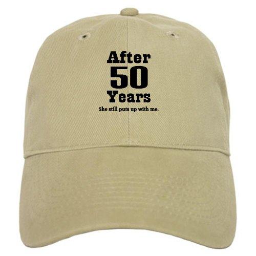 CafePress - 50th Anniversary Funny Quote Cap - Baseball Cap with Adjustable Closure, Unique Printed Baseball Hat