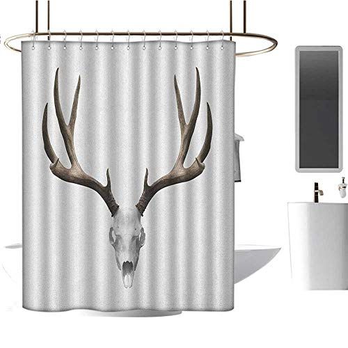 Shower Waterproof Fabric Shower curtain54 x78 Antlers,A Deer Skull Skeleton Head Bone Halloween Weathered Hunter Collection Warm Taupe Pale Grey,Curtain Anti Mould for Bathroom & -