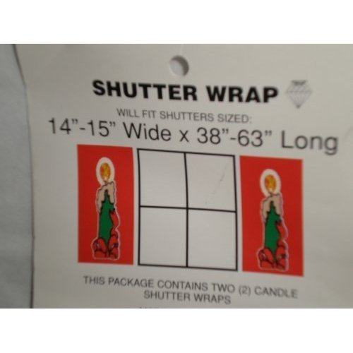 Wrap Shutter (Candle Christmas Holiday Shutter Wrap, Set of 2)
