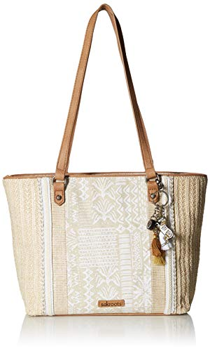 (Sakroots Unisex-adults Meadow Medium Tote, White Tribal Beauty )