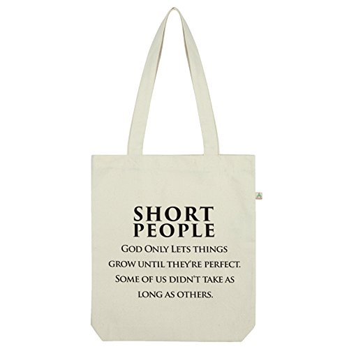 Twisted Envy Short People Funny Quote Tote Bag White
