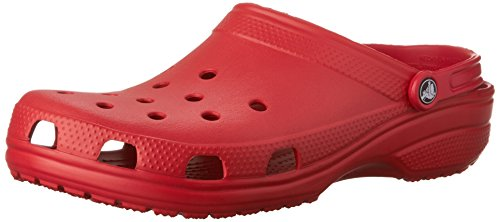 (Crocs Men's and Women's Classic Clog, Comfort Slip On Casual Water Shoe, Lightweight, Pepper, 8 US Women / 6 US Men)