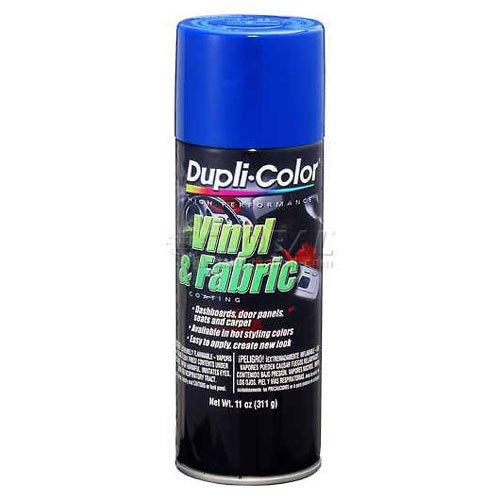 Vinyl Dye Spray Paint - Dupli-Color Vinyl And Fabric Coating Blue 11 Oz. Aerosol - Lot of 6