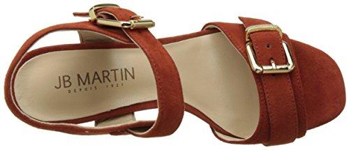 Jb Martin 3helie, Laccetto Alla Caviglia Donna Orange (Chevre Velours Tosca)