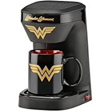 DC Wonder Woman DCW-123CN Coffee Maker, Single Serve, Black