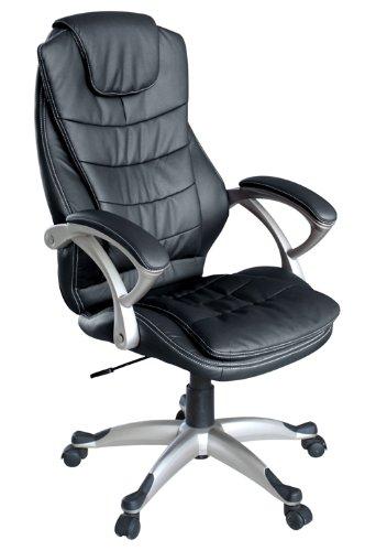 Silla de Oficina giratoria escritorio oficina altura ajustable cuero sintético sillón diseño silla con reposabrazos ajustable Recubrimiento Nuevo ...