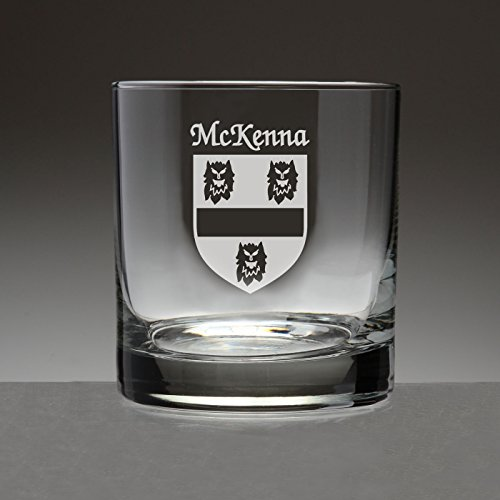Mckennas Rose (McKenna Irish Coat of Arms Tumbler Glasses - Set of 4 (Sand Etched))
