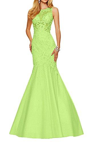 Abendkleider Durchsichtig Festlichkleider Damen Lang Braut Formal Gruen Ballkleider Spitze Sexy Lemon La Kleider Jugendweihe mia WxpTzpY