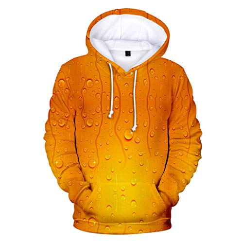 - Men's Training Pullover Sweatshirt Hoodie, MmNote Cheers for The Beer Lovers Print Hoodie(M-XXXXL) Orange