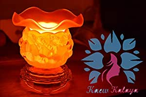 Kaew Kalaya - Luxury Aromatherapy Oils Lamp Electric Fragrance Oil Warmer, Essential Oil Burner with 35 Watt Halogen Bulb and Touch Dimmer Switch for Room Decoration & Relaxation The Ball Model Orange