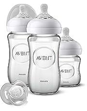 Philips Avent Natural flessenset SCD303/01, voor pasgeborenen van glas