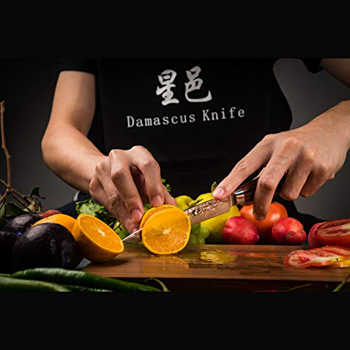 Chef's knife Damascus multipurpose knife(5 inch knife) by FZ (Image #5)