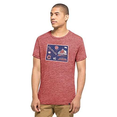 '47 NHL Colorado Avalanche Men's Tri-State Tee, Large, Lava Red