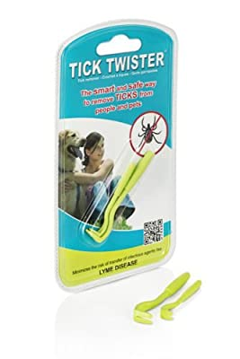 The Original O'Tom Tick Twister Removal Tool Safe & Easy for Pets & Humans 2 per pack from Tick Twister