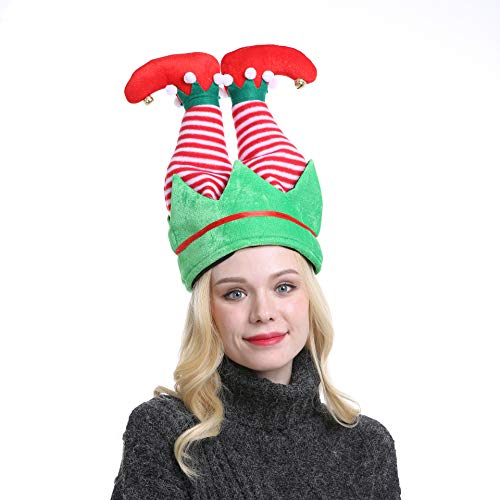 Novelty Christmas Elf Pants Hat Unisex-Adults Funny Party Holiday Headwear Xmas Ornament (Elf2)