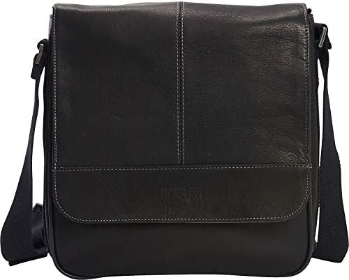 Kenneth Cole Reaction Colombian Leather Single Compartment Flapover Tablet Case, Black