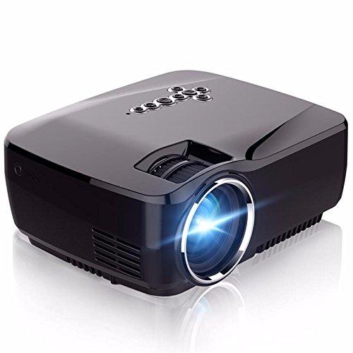 プロジェクション100inchスクリーン800x480ピクセルフルHD 1080P LCD 1800ルーメンミニLEDプロジェクターホームシアタースーペリアデコードプライベートシネマプロジェクター [並行輸入品] B072SPT2T3