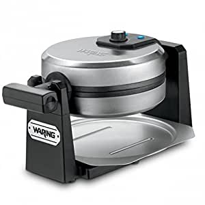 Waring Pro WMK200 Belgian Waffle Maker, Stainless Steel/Black (CERTIFIED REFURBISHED)