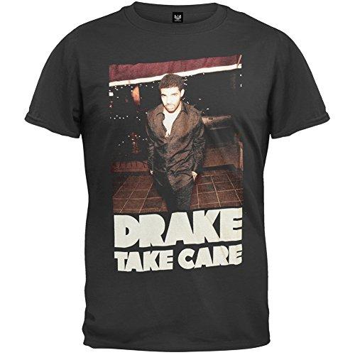 Old Glory Drake - Mens Take Care Soft T-shirt X-Small Black ()