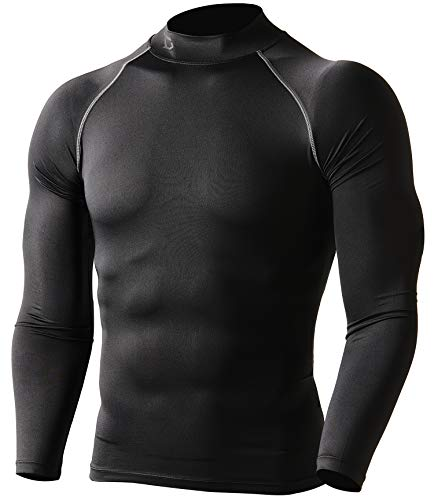 Defender Compression Men Shirt Under Hombre Tights Soccer ()