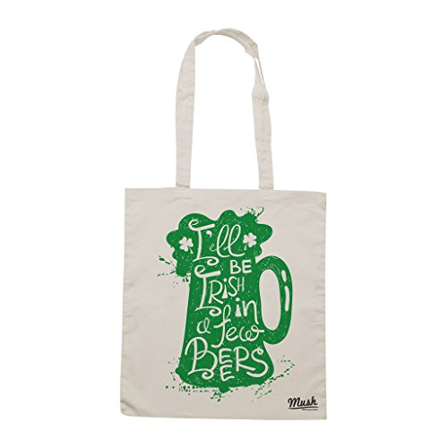 Borsa SAN PATRIZIO - SARÀ IRLANDESE TRA QUALCHE BIRRA - Sand - MUSH by Mush Dress Your Style