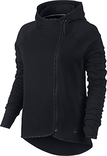 Nike Women's Tech Fleece Moto Cape Jacket, Black (Medium)