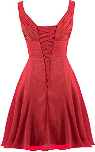 Demoiselle D'honneur Chérie Plissé Robes Robe Cocktail Ligne Taille 22w Nous Rouge Profond Fourmis Femmes
