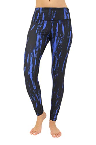 (90 Degree By Reflex Performance Activewear - Printed Yoga Leggings - Antique Tree Blue - Large)