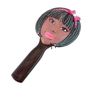black girl's face bob
