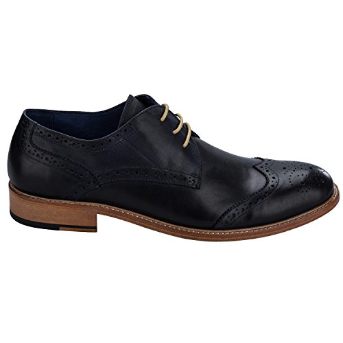 Remus Mens  Stefano Leather Derby Brogue Shoes UK 10 Blue 7euiOXZYcW
