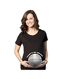 Maternity That's No Moon Funny Vintage Movie Pregnancy Tee (Black) -S