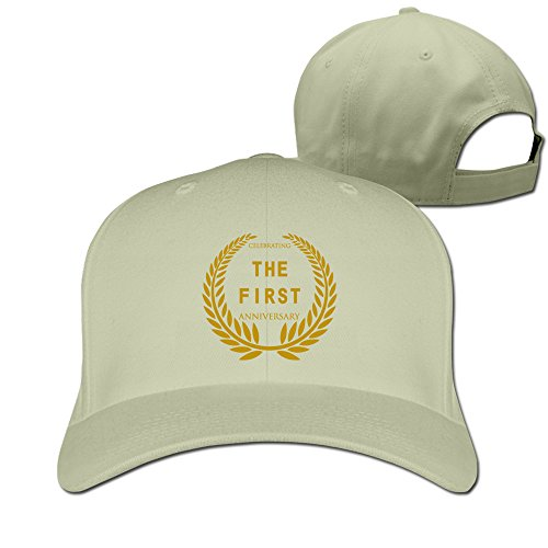 Celebrating The First Anniversary Adjustable Fitted Hat Baseball Caps Natural ()