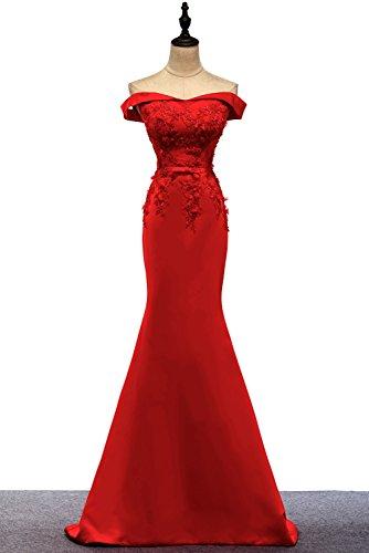 Dress Off Evening Shoulder BessWedding Dresses Mermaid Purple2 Party Long Satin Women's wAqwIxE6z