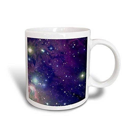 (3dRose Mug Cool outer space stars and planets dark blue design - science fiction sci-fi geek astronomy nerd (mug_112992_3) - 11oz - Transforming, Black/White)