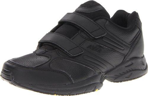 AVIA Women's Avi Walker Strap Walking Shoe,Black/Chrome Silver/Lemon Yellow,7.5 M (Avia Silver Shoes)