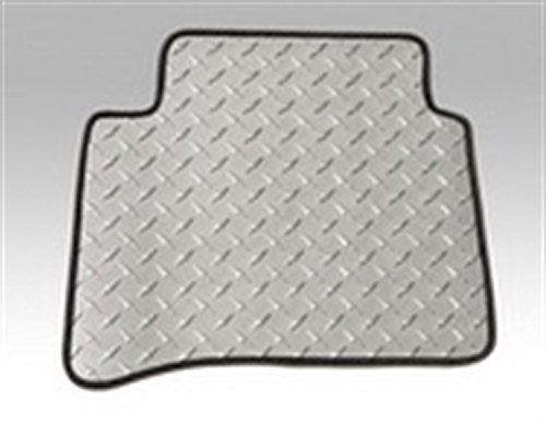 Intro-Tech Diamond Front and Second Row Custom Floor Mats for Select Bentley Continental GT/GTC Models - Simulated Aluminum (Silver)