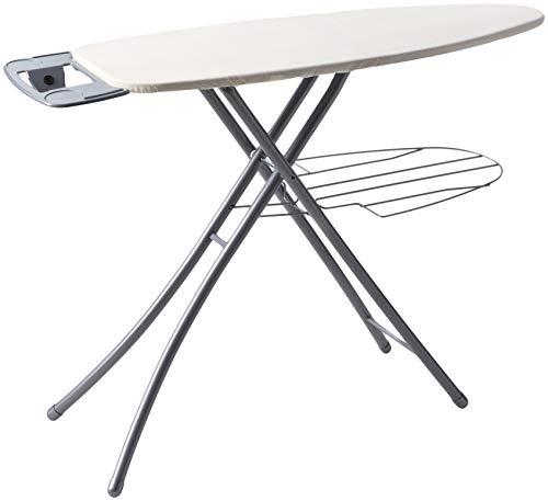 Professional Ironing System - Homz Professional Ironing System, 48.5 x 18.3 x 39.2 Inches, Platinum Leg with Khaki Cover
