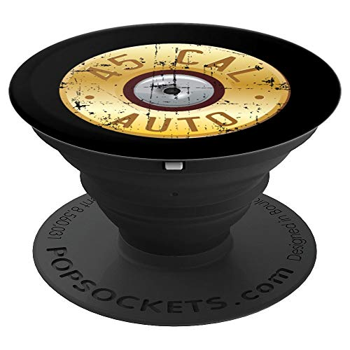 45 Caliber Spent Brass Shell Bullet, 45 Cal Ammo Design - PopSockets Grip and Stand for Phones and Tablets ()