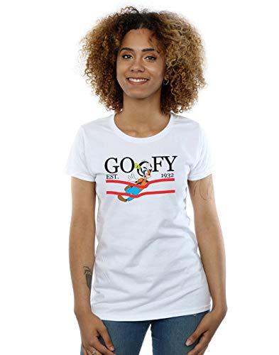Blanc shirt Disney T By Goofy Femme Nature nTnU7Ppqw