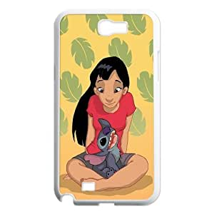 FOR Samsung Galaxy Note 2 Case -(DXJ PHONE CASE)-Ohana Means Family, Funny Stitch-PATTERN 20
