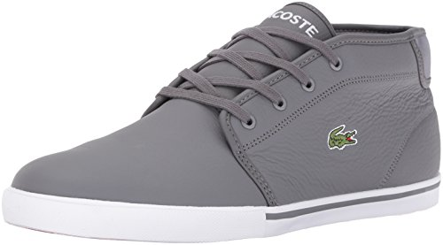 Lacoste Men's Ampthill G416 1 Casual Boot Fashion Sneaker, Dark Grey, 8 M US