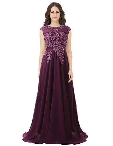 Bridesmaid Formal House Dresses Ball purple Prom Gown Dresses Belle Sd181 Beaded for Long Women S60YYqwU