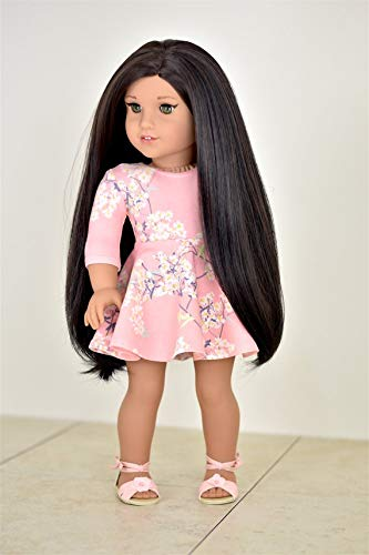 3/4 Sleeve Dress for 18 inch Dolls American Made Doll Clothes Doll Clothes Apparel Clothing Toy Dress up -