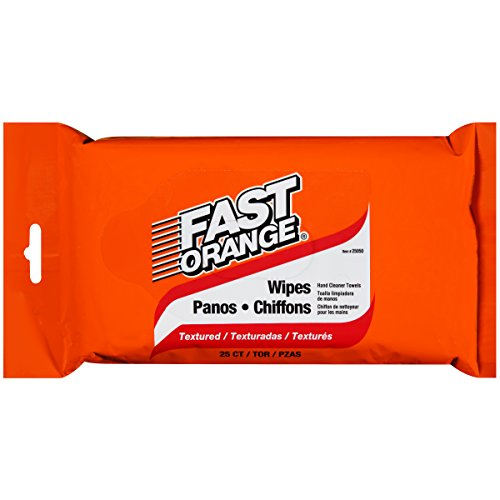 Permatex 25050 Fast Orange Hand Cleaner Wipe - 25 Count