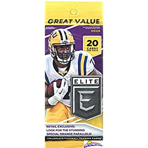 2017 Panini Elite Draft Picks NFL Football EXCLUSIVE HUGE Factory Sealed Jumbo Fat PACK! Look for Rookies & Autographs of Patrick Mahomes, Deshaun Watson, Mitch Trubisky, Kareem Hunt & More! WOWZZER!