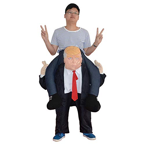 Keebgyy Halloween Inflatable Costume, Halloween Funny Festival Stage Cosplay Costume, Inflatable Blow Up Costume Performance Costume Piggyback Costume - One Size Fits Most -