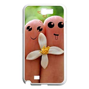 DIY Hard Back Cover Case with Finger for Samsung Galaxy Note 2 N7100 at Hushell
