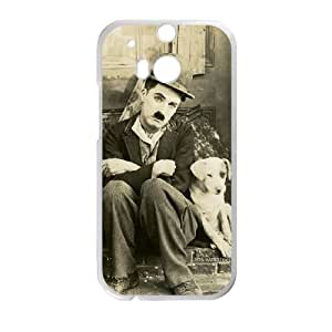 Charlie Chaplin Vintage HTC One M8 Cell Phone Case White GYK63620