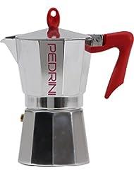 Pedrini: 9 Cups Espresso Coffee Pot, Polished Aluminium