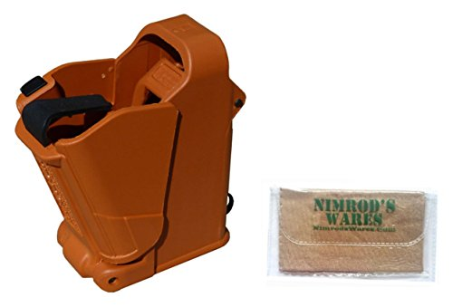 Maglula-UpLULA-Universal-Pistol-Loader-Unloader-9mm-45ACP-Burnt-Orange-Nimrods-Wares-Microfiber-Cloth